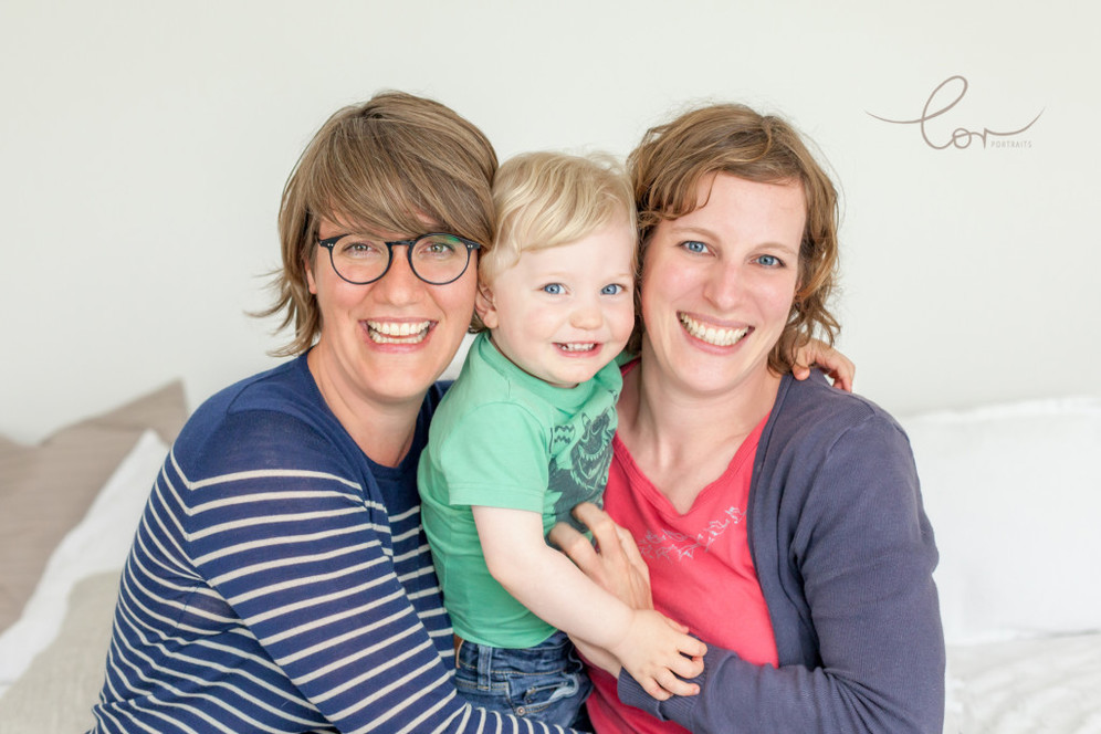 Regenbogenfamilie Fotoshooting NRW